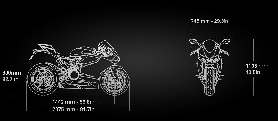 Ducati 1299 Panigale S Anniversario sizes